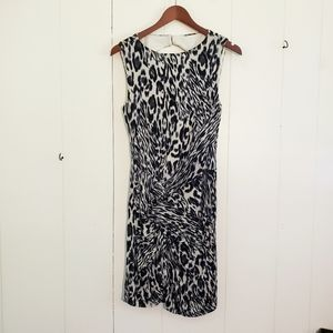 Cache Animal Print Partially Backless Dress